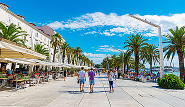 Seafront promenade in Split