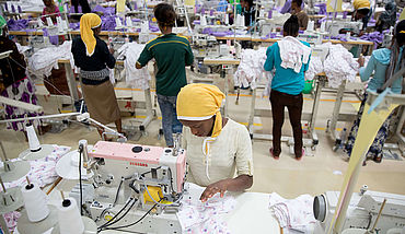 Textile factory © picture alliance/dpa | Kay Nietfeld