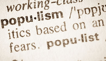 Dictionary definition of word populism