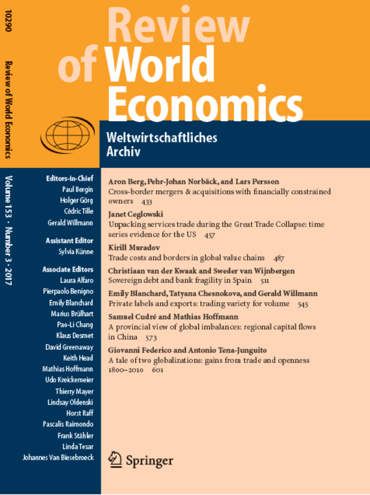 Cover - Review of World Economics